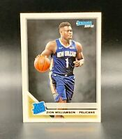 ❤️ZION WILLIAMSON 2019-20 DONRUSS RATED ROOKIE RC #201 BASE CARD PELICANS