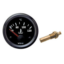 VDO Cockpit Vision Electric Water Temperature Temp Gauge 52mm 12V with Sender