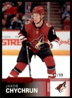 2019-20 UD Overtime Wave 2 Base Red #75 Jakob Chychrun /99 - Phoenix Coyotes