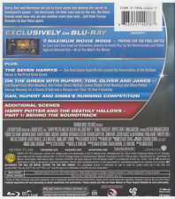 HARRY POTTER 7.1 DEATHLY HALLOWS PART I (Blu-ray ONLY, 2011)