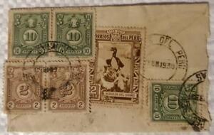 peru southamerica postage due 1939 circulated stamp cover multese huaraz