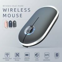 Ergonomic Wireless Mouse Bluetooth 5.0 +2.4G Dual Mode Gaming Mice For Laptop