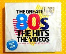 THE GREATEST 80's  -  THE HITS + THE VIDEOS  -  2 CD+DVD  2008 NUOVO E SIGILLATO