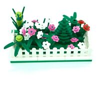 Lego Mini Modular Fenced Tree and Flower Bamboo Garden with Base Plate - NEW