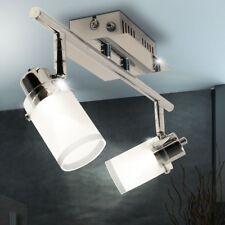 2x 4.2 Watt LED Ceiling Wall spotlight chrome swivel dining table glass lamp new