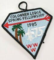 Vintage 1985 Colonneh Lodge WWW Order Arrow OA Boy Scout America BSA Patch