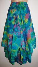 New Fair Trade Tie Dye Cotton Skirt 6 8 10 - Hippy Ethnic Ethical Boho Hippie