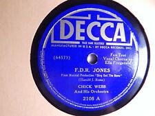Ella Fitzgerald Chick Webb F.D.R. Jones / I Love Each Move You Make Decca 78