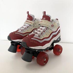 Ladies Red Skechers 4 Wheelers Roller Skates Good Condition UK 4 EUR 37 US 5