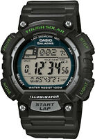 Casio STL-S100H-1A Mens Tough SOLAR Digital Watch World Time 5 Alarms LED New