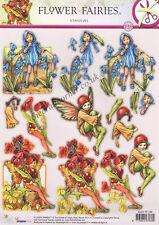Hawthorn Flower Fairy Die Cut 3D Decoupage Sheet Card Making Paper Craft NO CUT