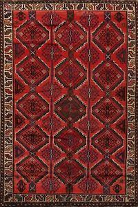 Vintage Geometric Traditional Tribal Handmade Area Rug Wool Oriental Carpet 6x8