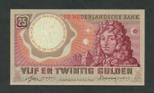 More details for netherlands  25 gulden 1955 huygens  krause 87  uncirculated 66  banknotes