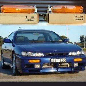 USDM 240sx s14 Amber Blinkers Indicator Turn Signal Light Set Direct Fit To s14