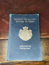 Greek Vintage Royaume de Grece Passeport Kingdom of Greece Expired Passport 1921