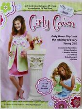 "Hope Yoder Sew Girls Sundress Nightgown 18"" Doll Dress Sewing Pattern Sz 6-14"
