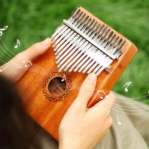 5PCS 17 Keys Kalimba Finger Thumb Piano Instrument Mahogany Keyboard Wood