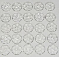 Lego Lot of 25 New Trans-Clear Technic Wedge Belt Wheel Pulley Pieces