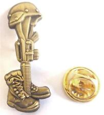 FALLEN SOLDIER Battlefield Cross Afghanistan Vietnam Iraq Hat Jacket Lapel Pin