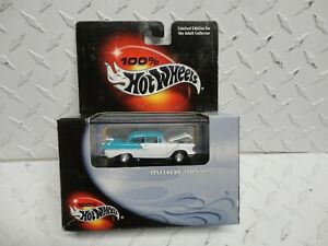 Hot Wheels Black Box Teal/White 1957 Chevy 150 Sedan w/Real Riders