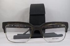 Prada VPR 19R HAQ-1O1 Matte Havana/Silver New Authentic Eyeglasses 54mm w/ Case