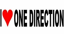 I Love One Direction Vinyl Decal Sticker for Car/Window/Wall