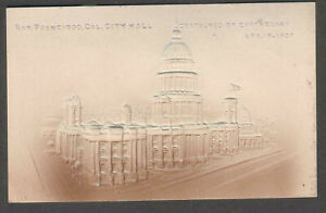 Pacific Novelty embossed post card San Francisco city hall/ destroyed earthquake