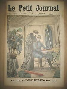 ROI ALBERT ET REINE DE BELGIQUE LOUPS AUGUSTOWO BATAILLE LE PETIT JOURNAL 1914