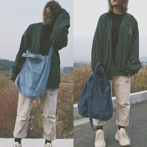 Women Large Capacity Versatile Messenger Denim Hippie Casual Retro Shoulder Bag