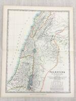 1896 Antik Map Of Israel Palästina Die Heilige Land 19th Jahrhundert Johnston