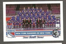 """1992-93 Kraft Dinner New York Rangers """"White-Logo"""" Proof & Corrected, Messier"""