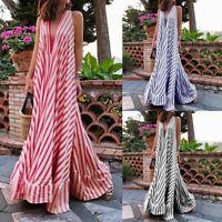 Women Summer Sleeveless Loose Baggy Dress Sundress Flare Club Party Beach Dress