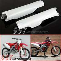 White Dirt Bike Fork Guards Protector Cover For Honda Cr125 Cr250 Crf250 Crf450
