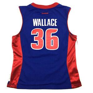 Detroit Pistons Womens Jersey Rasheed Wallace #36 Sewn Reebok NBA Basketball L