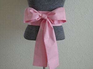 "Japanese 110""  x 4"" Cotton OBI Sash Belt Kimono Yukata Wedding Pink/Made in USA"