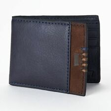 NEW ARRIVAL! LEVI'S MEN'S NAVY BLUE SLIMFOLD BILLFOLD BIFOLD WALLET BOXED GIFT