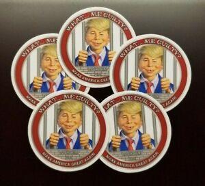 "5 Sticker Pack 2"" MAD Magazine's Alfred E. Neuman as Donald J. Trump Lock Him Up"