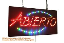 Abierto Sign,TOPKING Signage,LED Neon Open,Store,Window,Shop,Business,Display