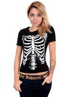 White Skeleton t-shirt Rockabilly Psychobilly Punk by Omen Clothing