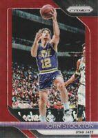 2018-19 Panini Prizm Basketball Ruby Wave Parallel #185 John Stockton Utah Jazz