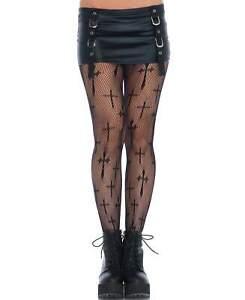 New Leg Avenue 9753 Worship Me Cross Netted Tights Pantyhose