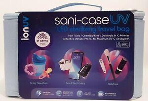 TZUMI ionuv Sani-Case UV LED Sterilizing Travel Bag Sanitizer Blue Lab proven