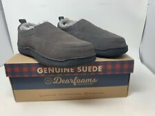 Dearfoams Genuine Black Suede Slippers US 11-12 Brand New With Box