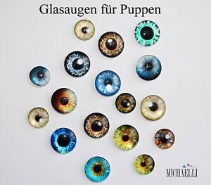 Glasaugen für Puppen, Tieraugen mit Linsenform - 1 Paar