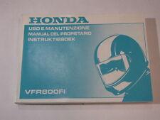 HONDA VFR800 2000 OWNER MANUAL DEL PROPIETARIO INSTRUKTIEBOEK USO E MANUTENZIONE