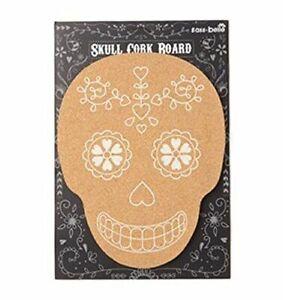 Skull Shaped Cork Pinboard Message Board