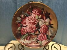 "Signed Franklin Mint"" Grace De Monaco Rose' Plate By Katharine Austen 8"""