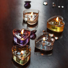 10pcs Clear Heart Tealight Cup Tea Light Candle Mold DIY Decor Gel Candles