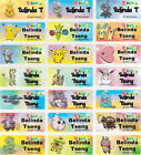 Pokemon Personalised Name Label Stickers - 96 Med (30*13mm) - Dishwasher Safe