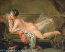 Nude on Sofa by Boucher 8x10 Print French Girl Naked Erotic Butt Legs Feet 05